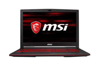 "MSI GL63 9RDS 15.6"" Core i5-9300H 8GB RAM 512GB SSD GTX1050Ti W10H Gaming Laptop"