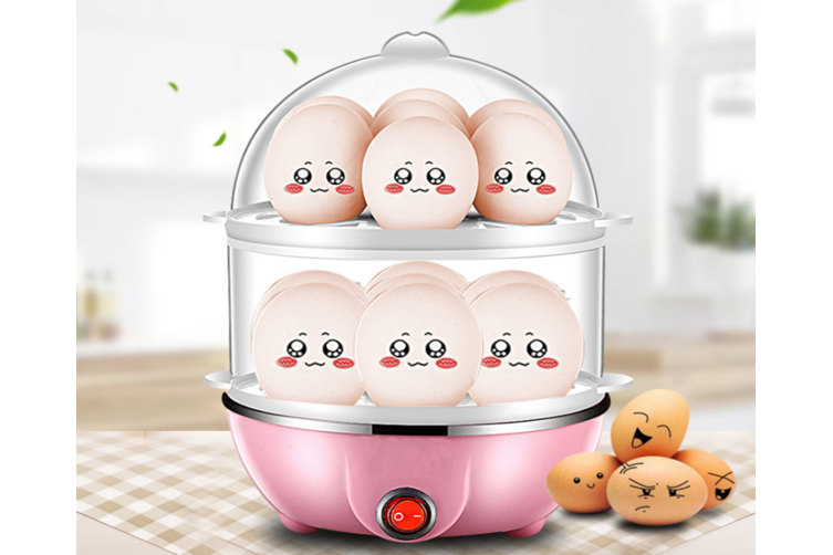 Multi-Function Double-Layer Steamed Egg, Home Automatic Power Off Egg Cooker Breakfast Pot, Steamed Pasta Boiled Egg Steamed Buns