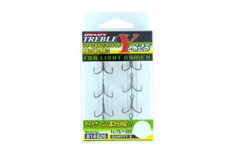 8 Pack of Size 14 Decoy Y-S25 Treble Fishing Hooks - Japanese Made Trebles