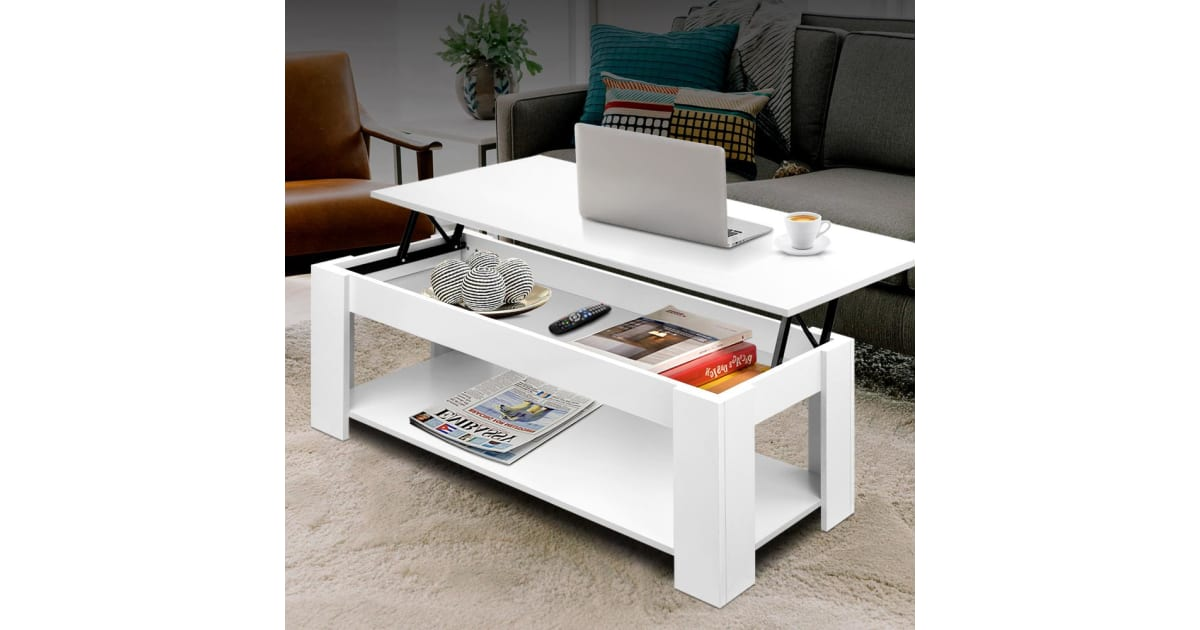 Dick Smith Lift Up Top Coffee Table Tea Side Interior Storage
