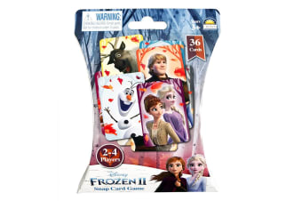 36pc Disney Frozen II Snap Card Educational Family Game/Toys Kids 3y+