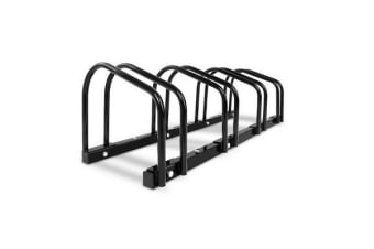 Portable 4 Bay Bike Parking Rack (Black)