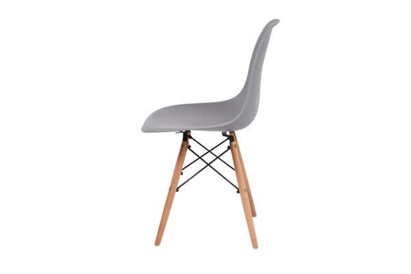 4 x Retro Replica Eames DSW Plastic Dining Office Cafe Lounge Chair Panton - Grey