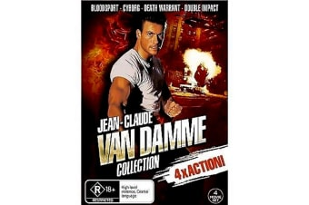 Jean-Claude Van Damme 4 Movie Collection - Region 4 Rare- Aus Stock Preowned DVD: DISC LIKE NEW