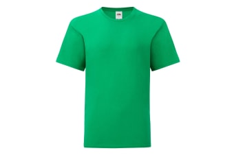 Fruit Of The Loom Childrens/Kids Iconic T-Shirt (Kelly Green) (12-13 Years)