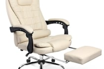 Executive Office Chair with Foot Rest (Beige)