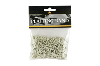 Lincoln Plaiting Bands (500 Pack) (White)