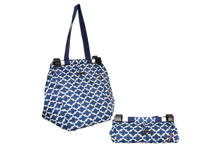 Sachi Shopping Reusable Grocery Hand Bag for Cart Trolley Moroccan Navy