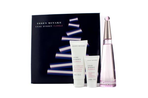 Issey Miyake L'Eau D'Issey Florale Coffret: Eau De Toilette Spray 90ml/3oz + Body Lotion 75ml/2.5oz + Shower Gel 30ml/1oz (3pcs)
