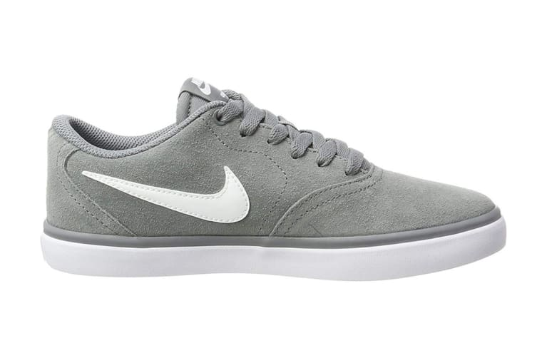 Nike SB Check Solarsoft Men's Skateboarding Shoe (Grey/White, Size 9.5 US)