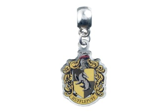 Harry Potter Official Hufflepuff Bracelet Charm (Silver/Yellow) (One Size)