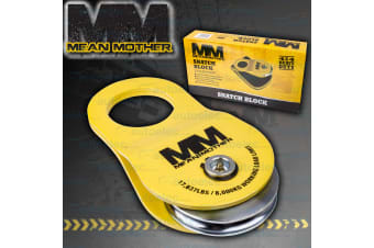 MEAN MOTHER SNATCH BLOCK + BAG 4x4 4WD RECOVERY SUIT WINCH SNATCH 8000KG MMSB8T