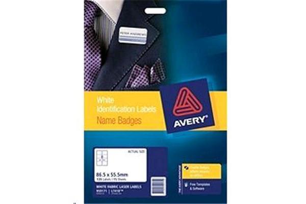 AVERY LABEL FABRIC BADGE 80 PACK