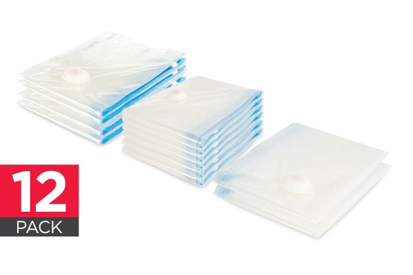 Ovela 12 Pack Space Saver Vacuum Bags (Assorted)