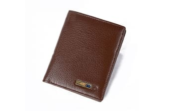Leather Wallet Bluetooth Connected With App Anti Lost Wallet Brown Vertical