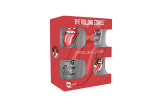 The Rolling Stones Shot Glasses (Pack Of 4) (Red)