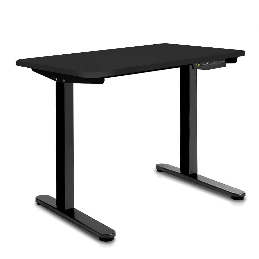 Image of 100CM Motorised Height Adjustable Sit Stand Desk (Matte Black)