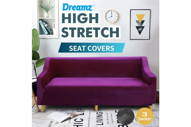 Dreamz Couch Stretch Sofa Lounge Cover Protector Chair Slipcover 3 Seater Wine