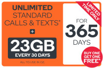Kogan Mobile Prepaid Voucher Code: EXTRA LARGE (365 Days | 23GB) - Buy One Get One Free