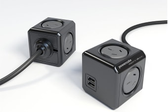 Allocacoc PowerCube 1.5m with 4 Power Outlets & 2 USB - Black  (PC5400)