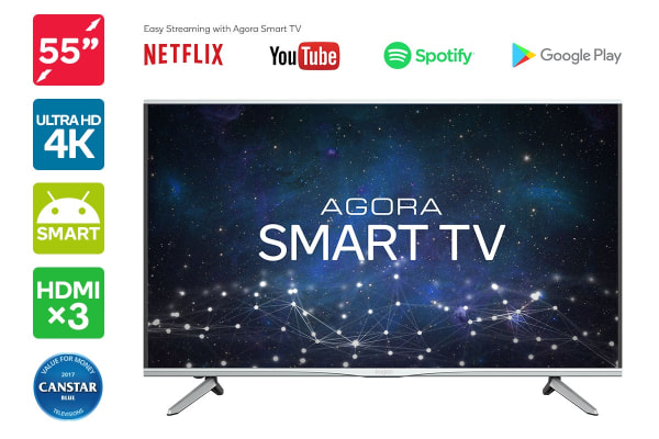 "Kogan 55"" Agora Smart 4K LED TV (Series 9 MU9000)"