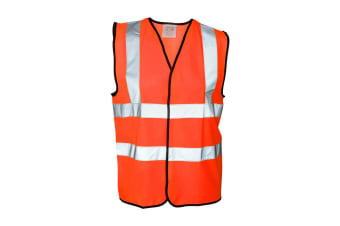 Absolute Apparel Mens Hi Vis Waistcoat (Orange)