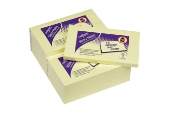 Snopake 12 Pads Pack Sticky Notes (Yellow) (12.7 x 7.6cm)