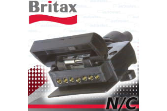 BRITAX  HOLDEN 7 PIN FLAT TRAILER FEMALE SOCKET CARAVAN REED SWITCH N/C