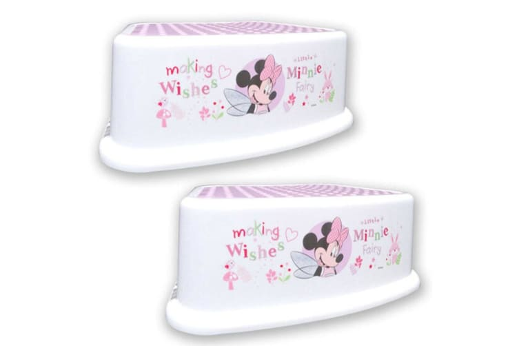 2PK Disney Minnie Mouse Fairy Step/Foot Stool Child/Toddler/Kids Chair Portable