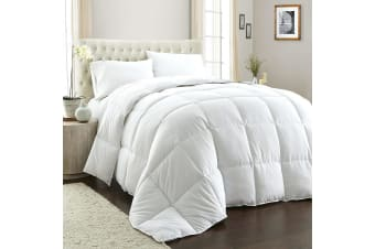 Royal Comfort 800GSM Quilt Down Alternative Doona Duvet Cotton Cover Hotel Grade - Queen - White