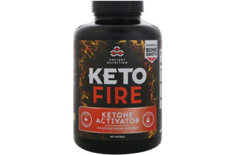 Dr. Axe / Ancient Nutrition Keto Fire Ketone Activator - 180 Capsules
