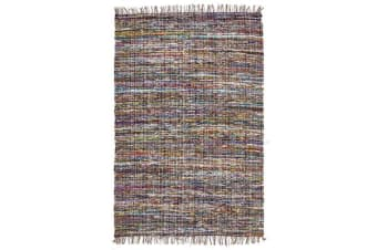 Primal Chindi Cotton Rug Blue 270x190cm