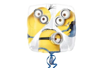 Despicable Me Anagram 18 Inch Minions Foil Balloon (Yellow/White)
