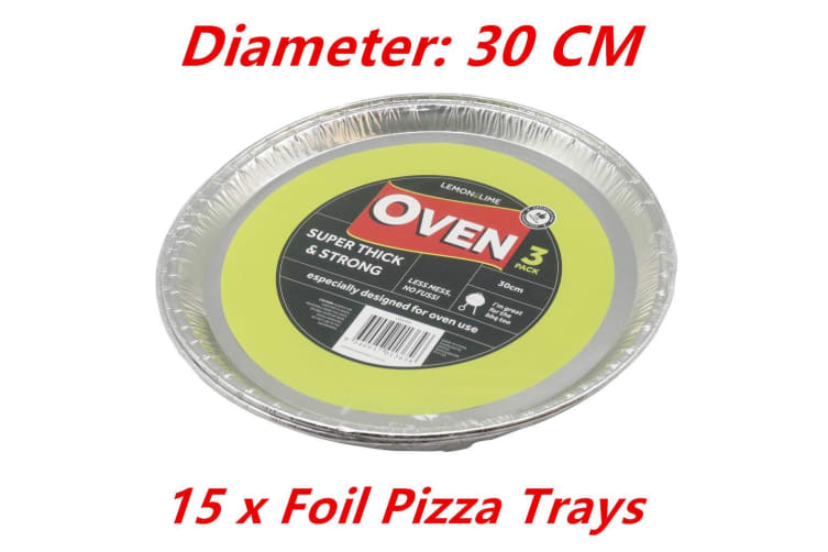 Aluminum Round Pizza Foil Trays Pan BBQ Disposable Oven Baking Party TRAY