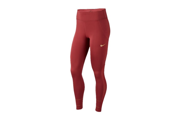 Nike Women's Fast Glam Dunk Tights (Pink, Size L)