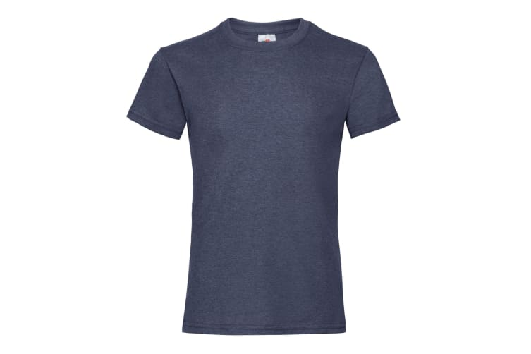 Fruit Of The Loom Girls Childrens Valueweight Short Sleeve T-Shirt (Vintage Heather Navy) (14-15)