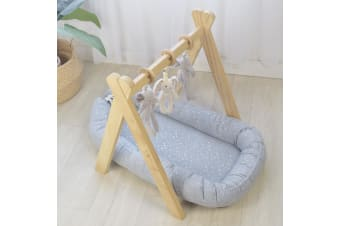 Living Textiles Baby Co Sleeping Nest Silver Stars