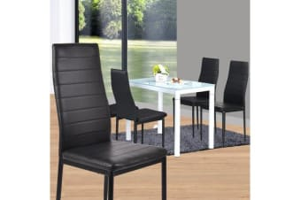 4 PCS PU Leather Modern Dining Chair