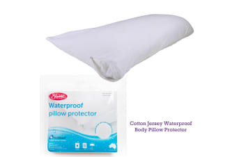 Cotton Jersey Waterproof Body Pillow Protector by Easyrest