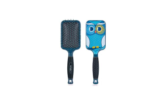 Bifull Owl Paddle Brush For Dogs (Turquoise) (One Size)