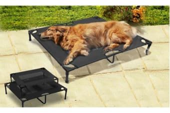 Black Heavy Duty Pet Bed Trampoline L