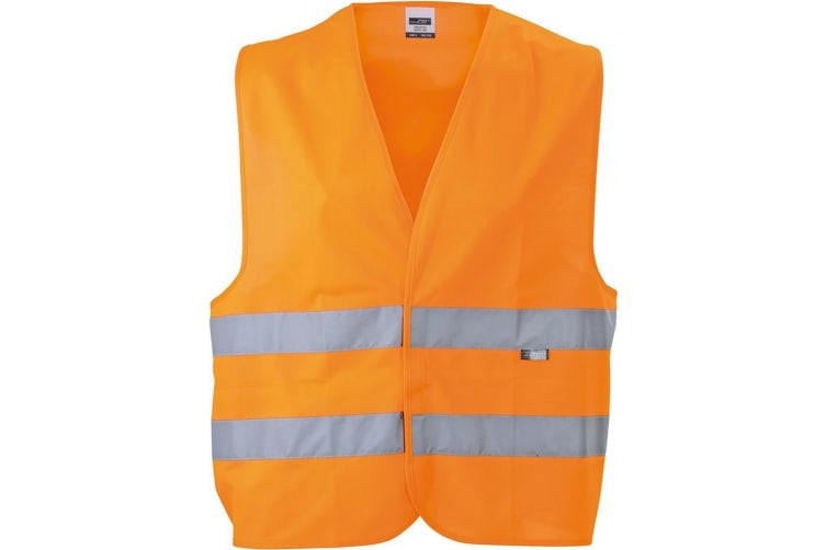 James and Nicholson Unisex Safety Vest (Fluorescent Orange) (One Size)