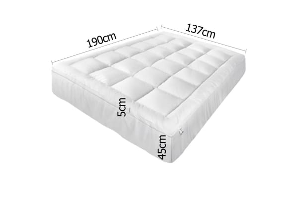 Pillowtop Mattress Topper Memory Resistant Protector Pad Cover (Double)