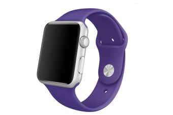 Apple Watch iWatch Series 1 2 3 4 5 Silicone Replacement Strap Band 38mm/40mm M/L size-Purple