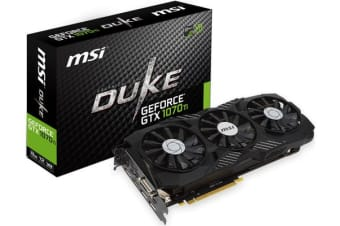 MSI NVIDIA GTX 1070 TI DUKE 8GB Video Card - GDDR5 3xDP/HDMI/DVI SLI VR Ready 1607/1683MHz
