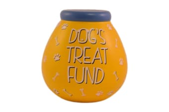 Pots Of Dreams Dog Treat Fund Money Pot (Yellow) (One Size)