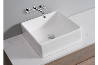 White High Gloss Ceramic Bathroom Sink Basin Above Counter Top (CBS012)