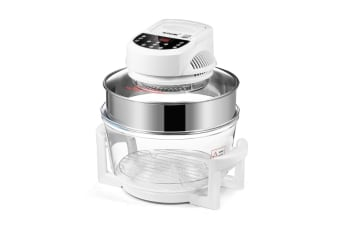 Maxkon 17L Halogen Oven Cooker Air Fryer w/ LED Display - White