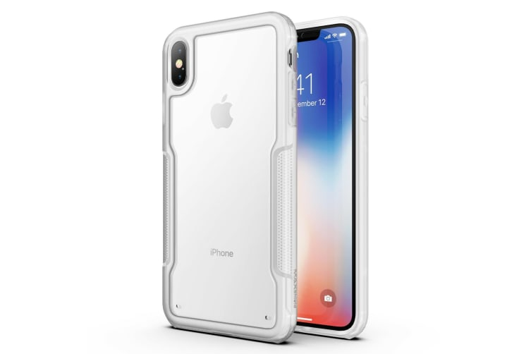 MAXSHIELD Slim Clear Heavy Duty ShockProof Case for iPhone X/XS-Clear