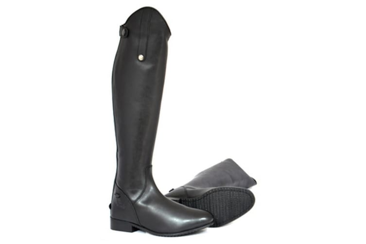 Mark Todd Adults Short Leather Long Riding Boots (Black) (5.5 UK (Standard))
